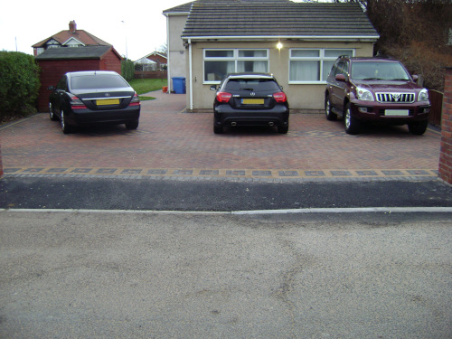 Finished job: block paving completed.